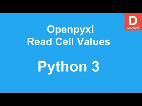 Python 3 Openpyxl Read Cell Value - YouTube