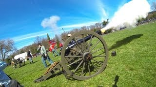 Loading and Firing a Civil War Cannon