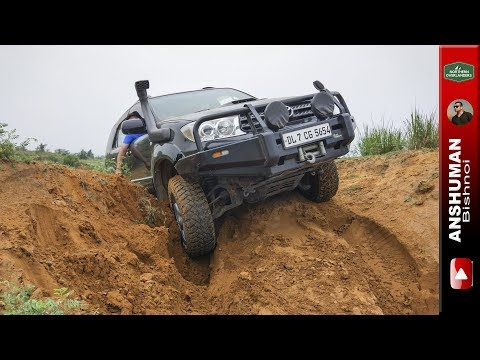 Toyota Fortuner with Ironman Kit, Gurgaon Offroading compilation, AceF355 Team-BHP