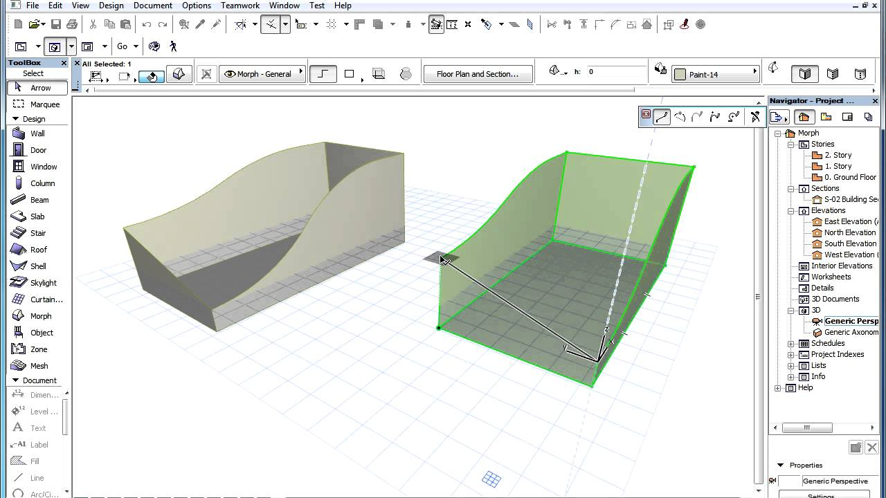 The Archicad Morph Tool Conversion Between Solid And