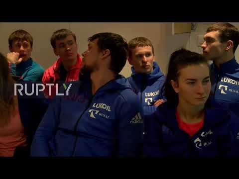 Switzerland: Despair as athletes listen to IOC decision banning Russia from 2018 Winter Olympics