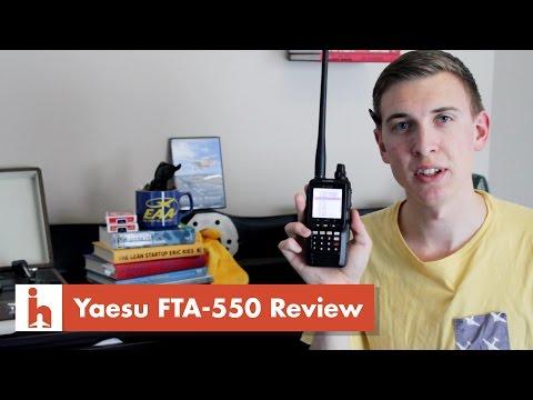 Yaesu FTA-550 Handheld VHF Transceiver Review & Saying Hey!