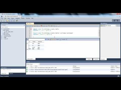 Insert,Update,Delete  by writing Queries -  MYSQL