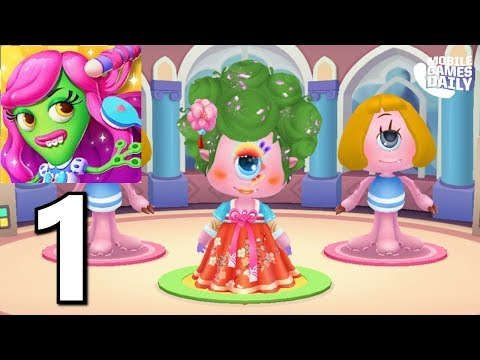 Little Monster's Makeup Game : Gameplay Part 1 (iOS Android) Games for kids!