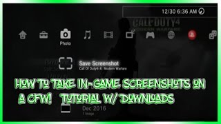 How To Take In-Game Screenshots on a CFW! - Tutorial w/ Downloads