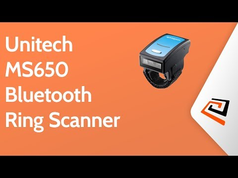 Unitech MS650 Bluetooth Ring Scanner - YouTube