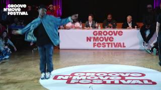 GROOVE'N'MOVE BATTLE 2017 - All Style semi-Final / Poppin C & Perla VS Jerson & Alfreda