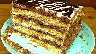 Я БОЛЬШЕ в МАГАЗИНЕ К ЧАЮ НЕ ПОКУПАЮ! Домашний рецепт Торта Зебра За 30 минут вместе с выпечкой.