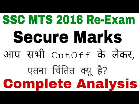 SSC MTS 2016 Re-Exam Expected Secure Score In All States. Complete Analysis With The Importa Points.