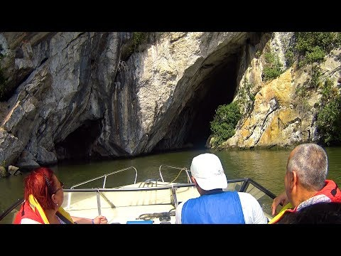 Sailing towards Ponicova Cave - The Largest Cave in The Danube Gorge