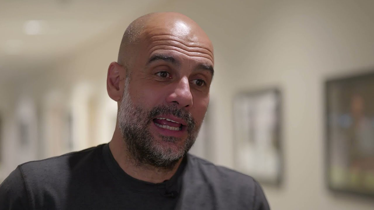 Pep Guardiola's immediate reaction to Man City being crowned Premier League Champions
