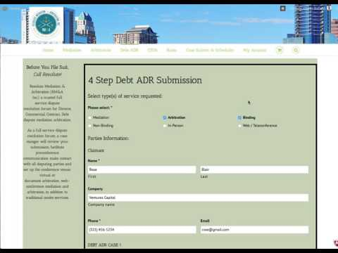 How to Submit Your Debt Dispute Arbitration Case