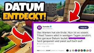 KOMET DESTROYED GENAU on this DAY TILTED TOWERS! | Evidence! - Fortnite Battle Royale (English)