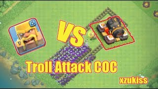 Barbarian VS Cannon On COC - Troll attack clash of clan 1 xzukiss