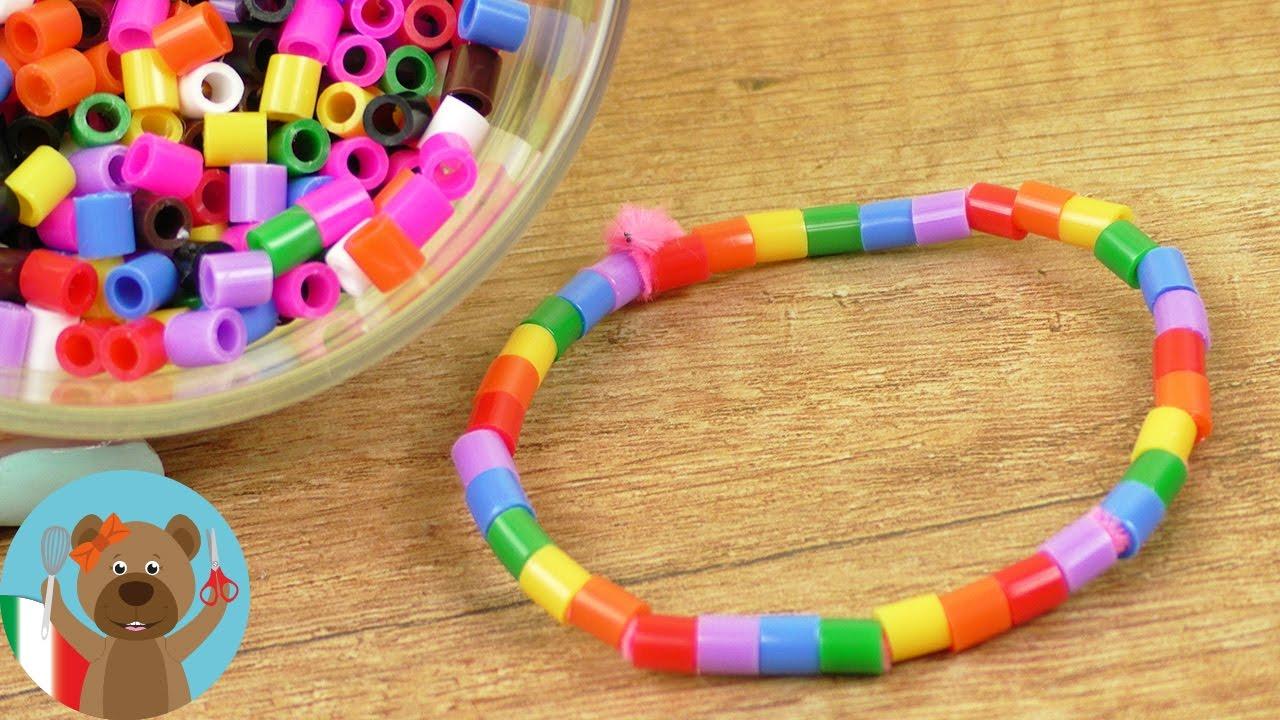 Braccialetto con perline fai da te super facile creare for Creare oggetti utili fai da te
