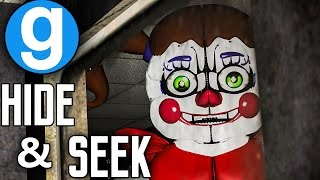 SISTER LOCATION PILL PACK HIDE AND SEEK | Five Nights at Freddy's Garry's Mod - FNAF 1 Map