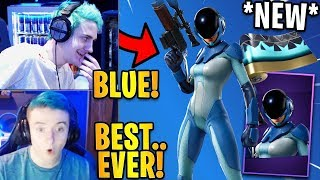"Streamers React to the *NEW* ""ASTRO ASSASSIN"" Skin & ""Angular Flow"" Wrap! 
