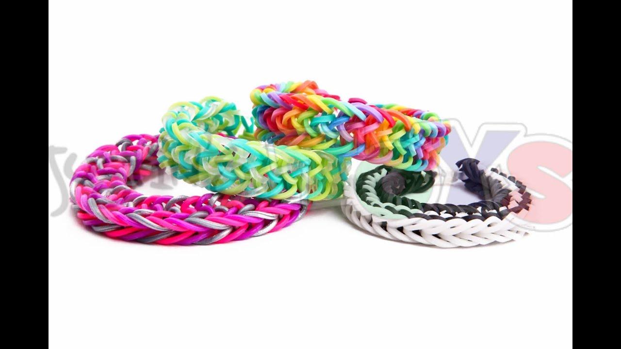 zig zag fishtail easy rainbow loom bracelet tutorial