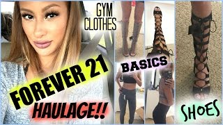 Forever 21 TRY ON HAUL!! Gym clothes, Basics, Laced shoes!