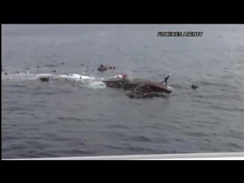 شاهد: سفينة يابانية تصطدم بقارب صيد كوري شمالي وتغرقه  - نشر قبل 7 ساعة