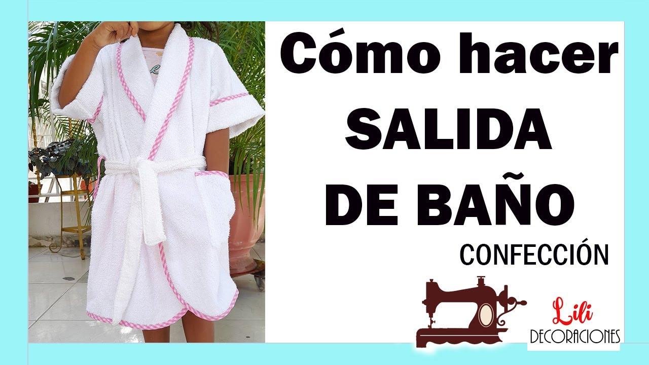 CONFECCIÓN SALIDA DE BAÑO INFANTIL