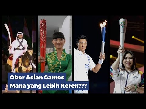 Keren! Inilah Obor (Torch) Asian Games 2006, 2010, 2014, Dan 2018. Mana Yang Lebih Keren?