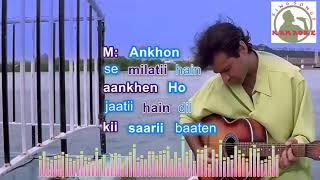 Sirf Tum Sirf Tum Hindi karaoke for Male singers with lyrics (ORIGINAL TRACK)