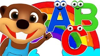 Children Learn Colors & ABCs with Rainbow Coloring, ABC Song for Toddlers | Kids Songs Colour Rhymes