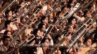 Largest number of Sitars, mass recital