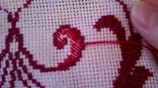 Красивая изнанка при вышивке крестом видео