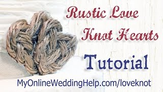 Country Love Knot Heart Tutorial Thumbnail