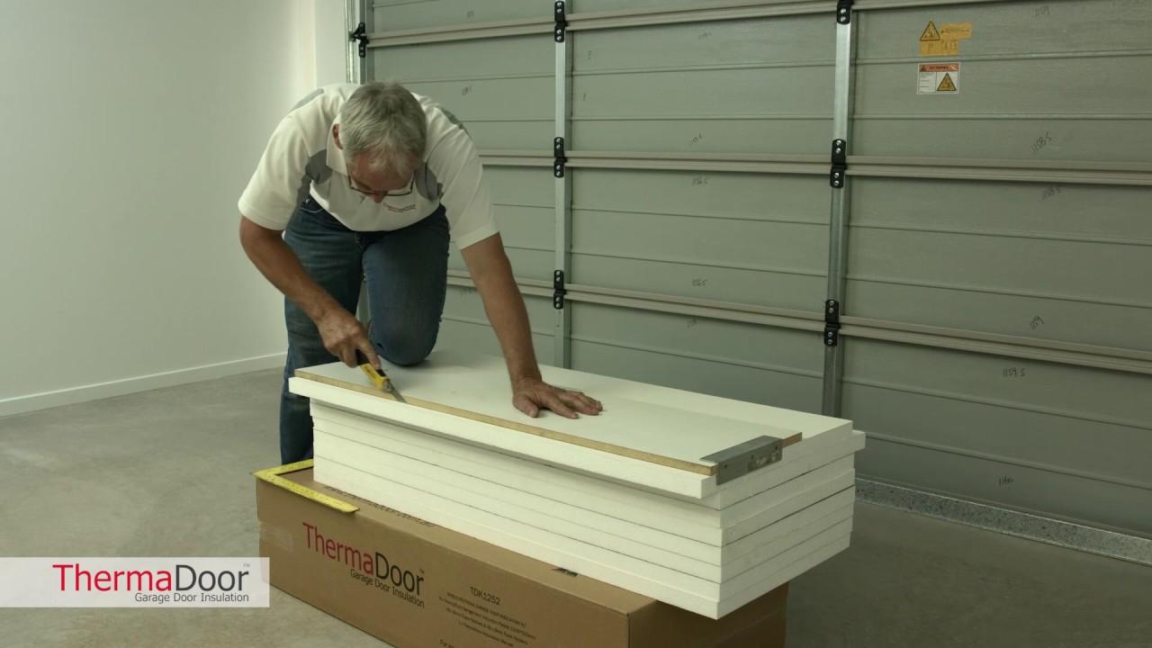 How to cut your ThermaDoor Garage Door Insulation panels & How to cut your ThermaDoor Garage Door Insulation panels - YouTube