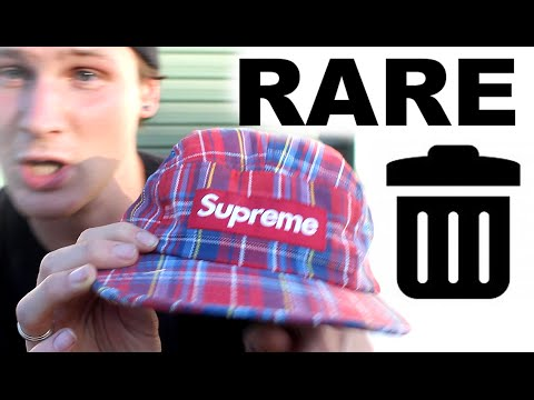 RARE DAD HAT COLLECTION!.. and throwing it in the trash