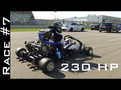 Go Kart With CBR1000RR Fireblade Engine Vs Suzuki Hayabusa 1300 | Race #7