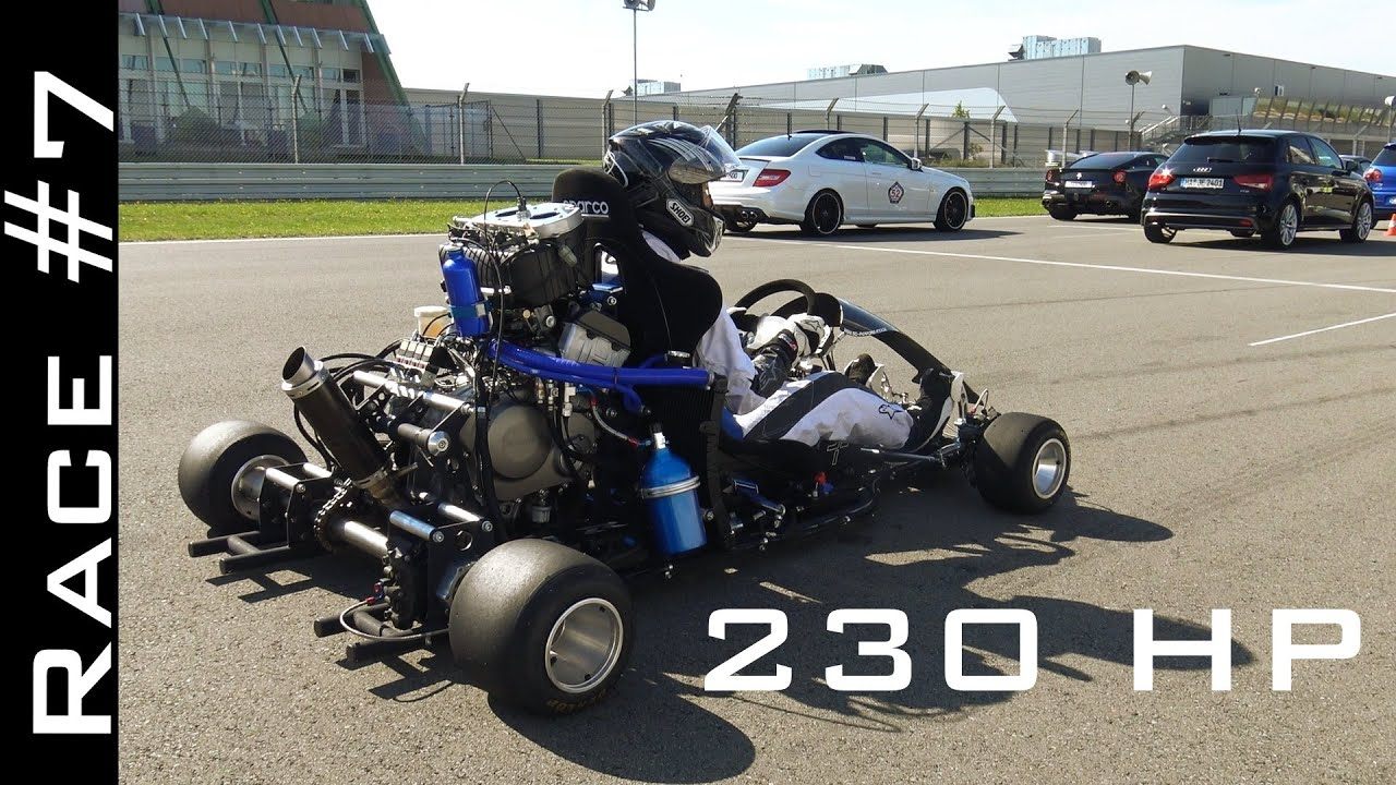 Go Kart with CBR1000RR Fireblade Engine vs Suzuki Hayabusa 1300 | Race #7