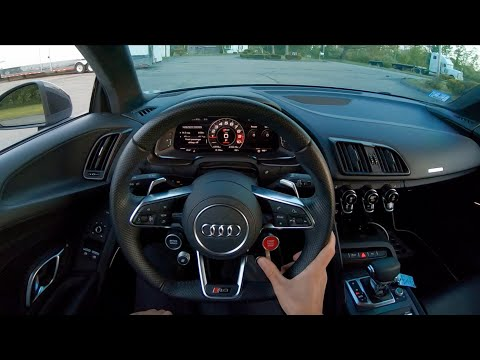 2017 Audi R8 V10 Plus - Sunset POV Test Drive by Tedward (Binaural Audio)