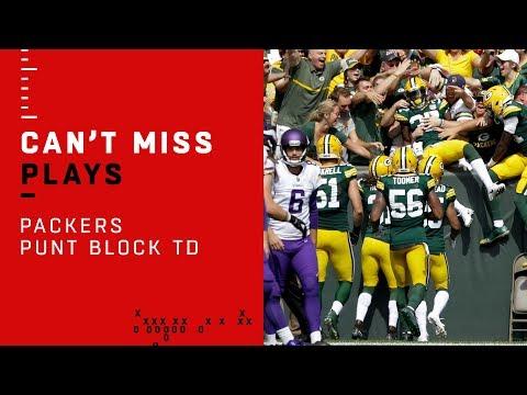 Green Bay's Punt Block & TD!