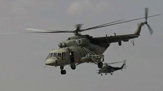 В сирийской провинции Ракка вертолеты ВКС РФ прибыли на военный аэродром.