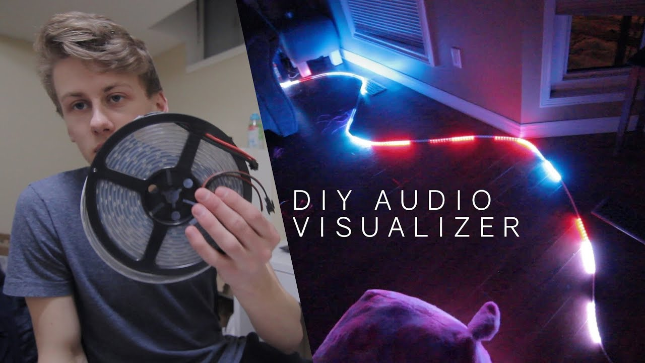 Diy led music visualizer real time animations arduino