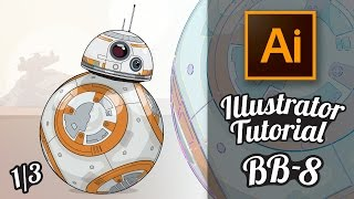Illustrator Tutorial - Star Wars Droide BB-8 im GTA Stil (Part 1/3) [Deutsch / German]