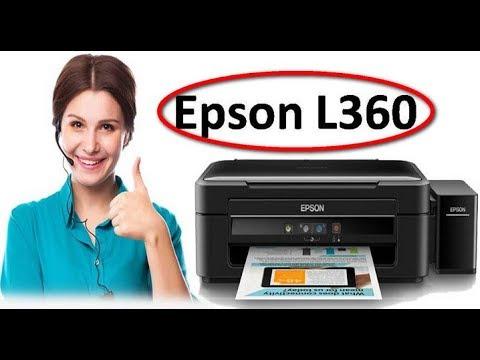 cara scan file printer epson l360