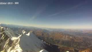 Mont Blanc décollage parapente 4810 m