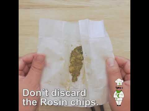 How to make rosin for edibles