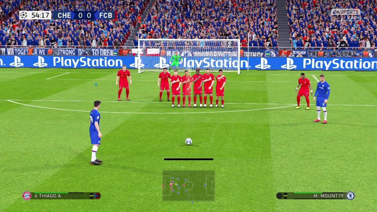 Chelsea vs Bayern Munich vòng 1/8 cúp C1 2020 gameplay