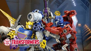 Transformers Optimus Prime & Bumblebee Construct-bots Building Fail