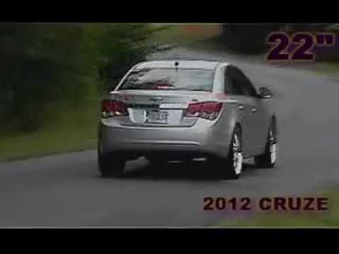NEW 2012 CHEVY CRUZE ON 22s NO LIFT NO RUB!!!!!!! - YouTube