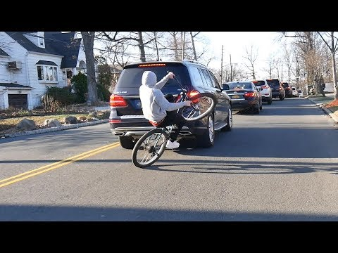 BIKES SWERVING CARS