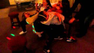 Kids doing a trick on New Years Eve
