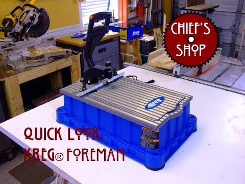 Chief's Shop Quick Look:  Kreg® DB210 Foreman Pocket-Hole Machine
