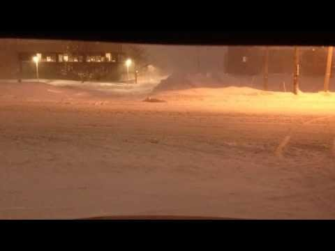 Time lapse on the snowy roads of Charlottetown Prince Edward Island.